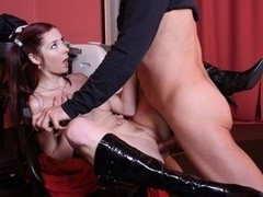 Hot slut Kattie Gold gets fucked in a public place