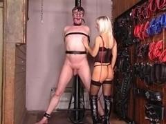 Posh Sadistic mistress just wants to hurt this slave
