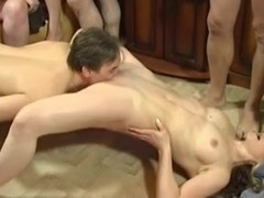 Group Sex at Home in the Living Room