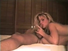 Retro Blonde Fucks on Top