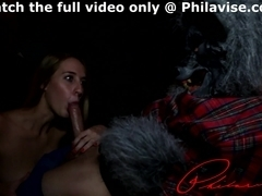 Cadence Lux gives the best blowjob to the werewolf in South Philly
