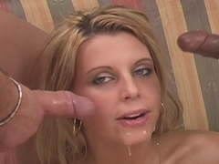 Two horny guys have caught a malleable girl