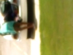 ebony flashing no panties