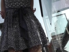 Long legged girlfriend in the free upskirt movie
