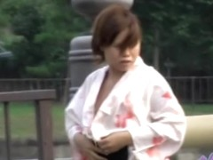 Explicit sharking video shows natural Japanese titties