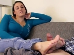 cheating footjob sexy