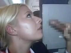 Air stewardess HJ and BJ mile high club