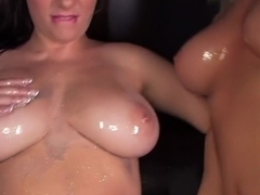 Larissa takes on two cocks at once