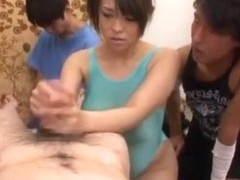 Horny Japanese whore Reiko Nakamori in Crazy Handjobs, Big Tits JAV video