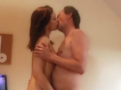 Old Grandpa Fucks Gina Gerson And Her Girlfriend In Hardcore Threesome