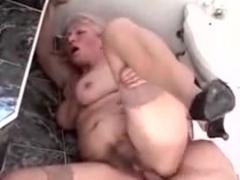 Unshaved Granny Screwed