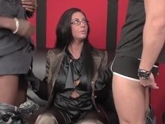 Exotic pornstar Engel White in best cumshots, facial sex video