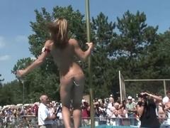 Incredible pornstar in exotic striptease, outdoor porn video