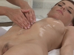 Fabulous pornstars Tiffany Walker, Eileen in Best Massage, Fingering xxx scene
