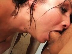 Incredible pornstars Anikka Albrite, Veruca James in Exotic Brunette, Facial sex clip