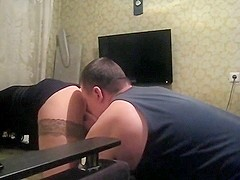 Ass licking hubby makes a home film