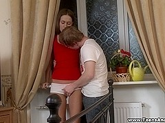 Teeny ass got creampied