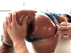 Mahina Zaltana gets Erik's Everhard and Mick's Blue cocks in her holes