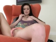 Beautiful brunette Candace Cage gives a blowjob for strange black man being already wet