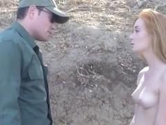 Border patrol officer screwed border ###ing redhead babe