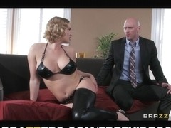 Thick golden-haired wife Krissy Lynn loves to be drilled in the a-hole