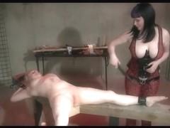 Lezdom Electro Stimulation And Flogging