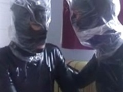 Free latex porn movies with plastic bags fetish couple