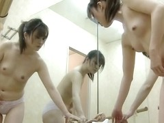 Naked tits in ballet class changing room