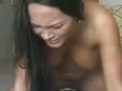 Oriental babe with monster vibrating machine