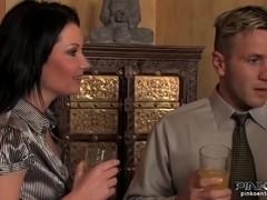 PinkoHD XXX video: Creaming Her Tits