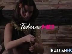 Russian Teen Masturbating