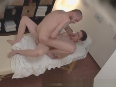 Horny youngster fucking with the masseur