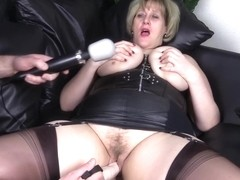 Filthy Step Mom Catherine Has Her Pussy Wrecked With Thick Dildo And Magic Wand Until She Orgasms