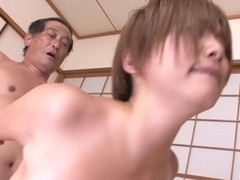 Breasty mother I'd like to fuck Meguru Kosaka Drilled By 2 Lads