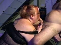 Redhead big beautiful woman Cigar BJ (PAWG)