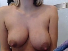 New mom milks her tits