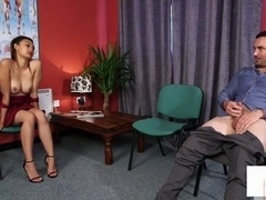 British Domina Instructs Naked Sub