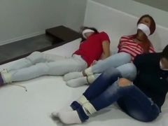 3 girls gagged