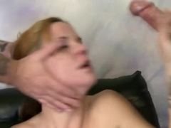 Hazel Allure Kneels For Double Cock Bj