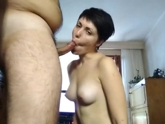 Deepthroat and homemade anal with wife