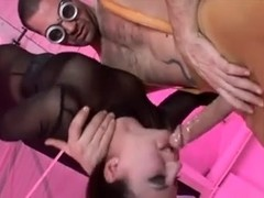 Two wickedly hot broads in BDSM hardcore threesome