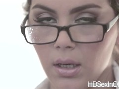 Seductive Valentina gets her pussy pounded by dudes huge cock