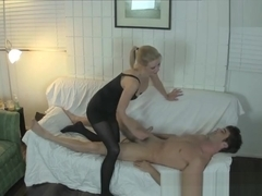 Vanessa Vixon Plays a Ballbusting Game with Lance Hart - MeanHandJobs