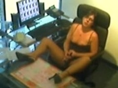 sexy secretary gets off