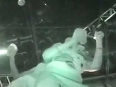 Upskirt in club with horny girls dancing