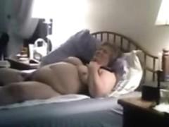 Hidden cam. My old mum masturbating