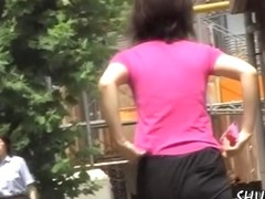 Bathetic sweet Asian chick getting caught of the guard by handy sharking chap