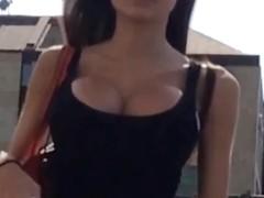 Big fake tits voyeur
