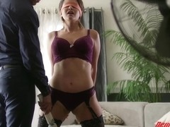 Alix Lovell is moaning from pleasure while getting her tight pussy filled up with a hard cock