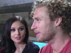 Hot brunette slut Ariana Marie pussy pounded very hard
